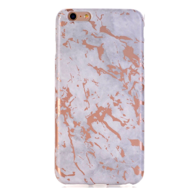 White and Rose Gold iPhone Case IPHONE 6/S PLUS - CASES A LA MODE