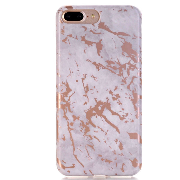 White and Rose Gold iPhone Case IPHONE 7 PLUS - CASES A LA MODE
