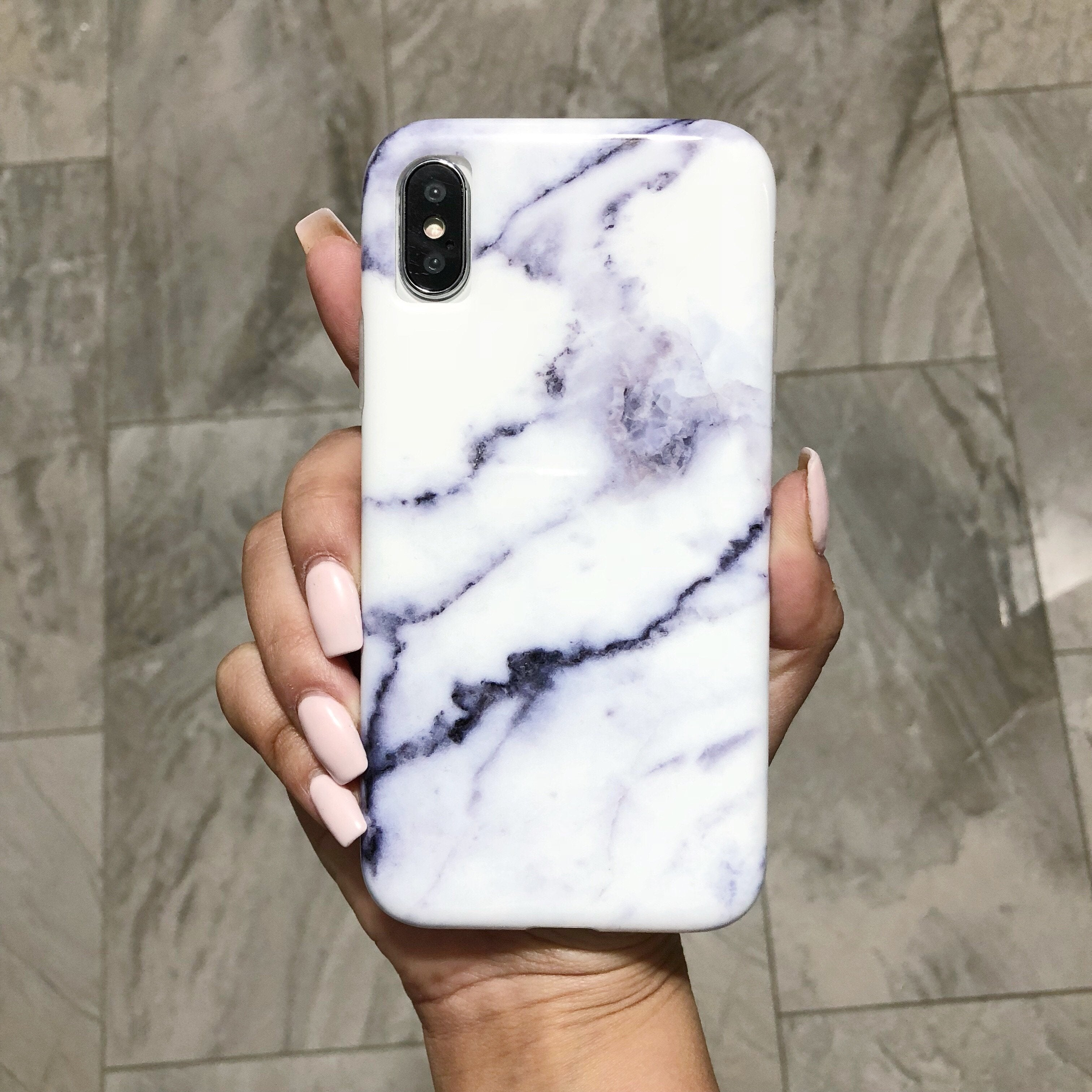 White Carrara Marble Case  - CASES A LA MODE