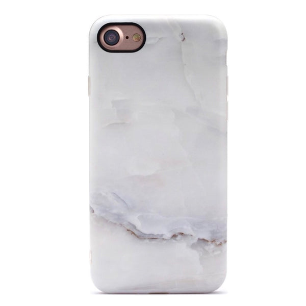 White Iceberg Marble iPhone Case  - CASES A LA MODE
