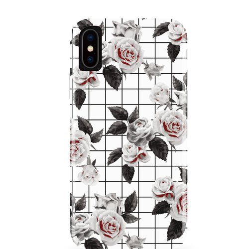 White Vintage Floral iPhone Case IPHONE X - CASES A LA MODE