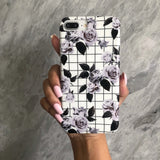 White Vintage Floral iPhone Case  - CASES A LA MODE