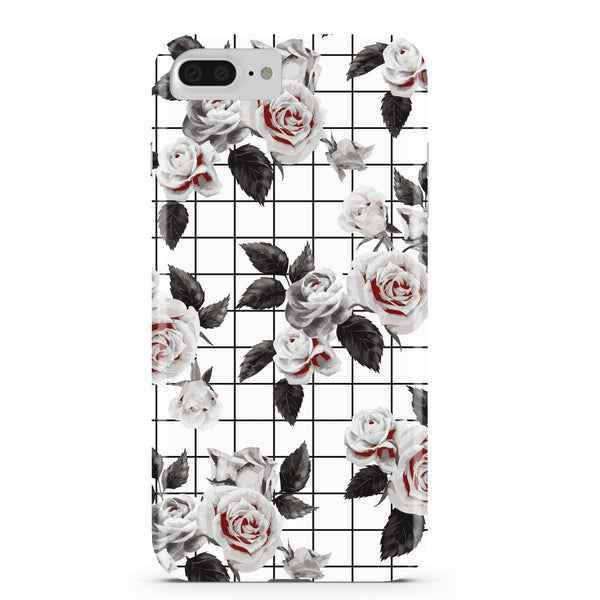 White Vintage Floral iPhone Case IPHONE 6/S PLUS - CASES A LA MODE