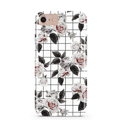 White Vintage Floral iPhone Case IPHONE 6/S - CASES A LA MODE