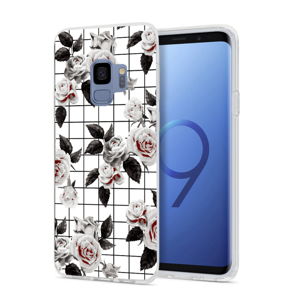White Vintage Floral Samsung Case GALAXY S9 - CASES A LA MODE