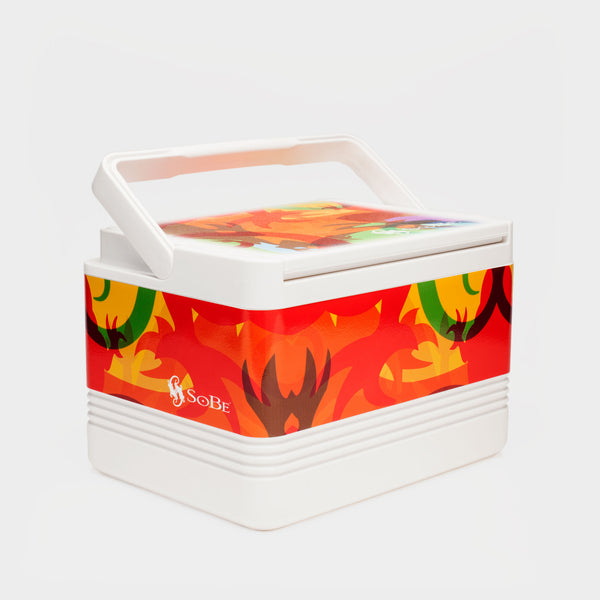 Technicolor Lizard Print Cooler