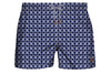 Intertwined Luxury Swimwear Trunk Geometric Blues