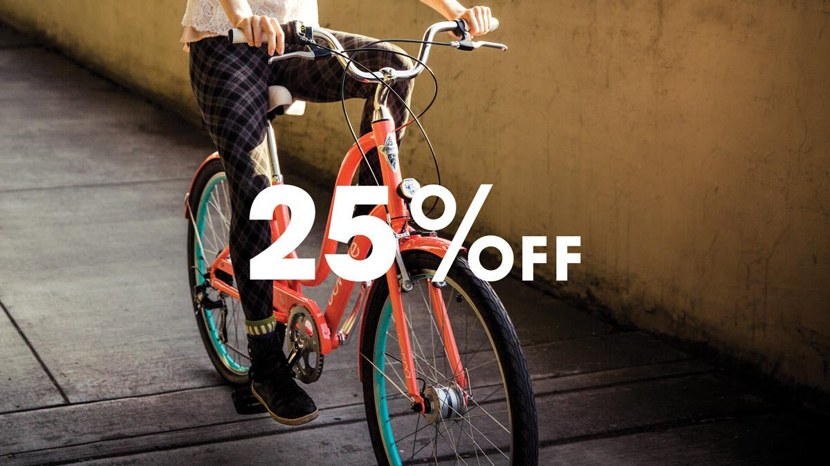 Buy an Electra bike for mom - Save 25% on accessories