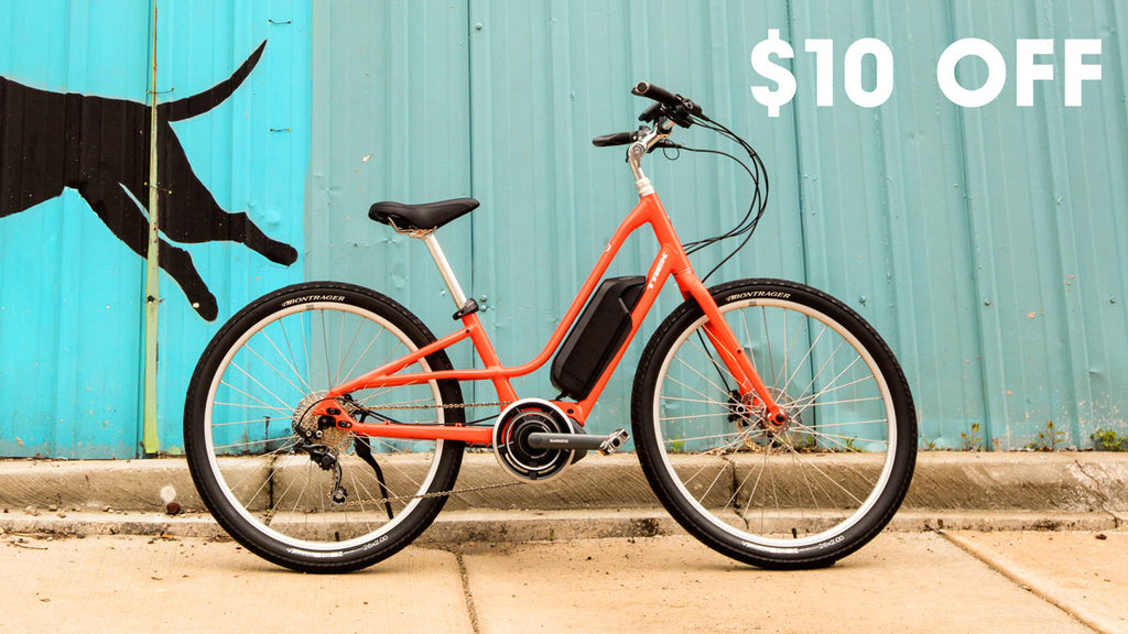 Test Ride an E-Bike and get $10 off your next purchase