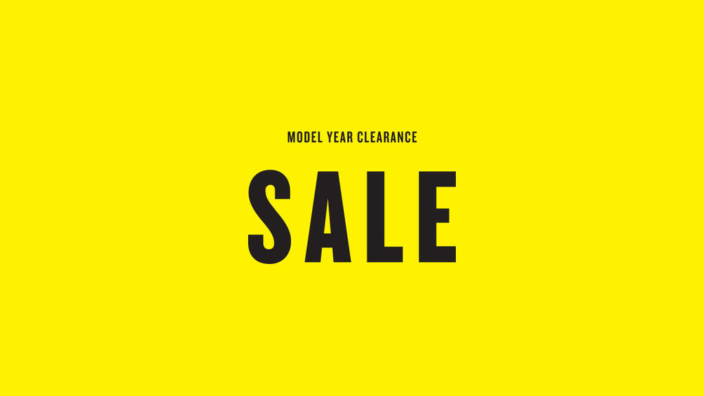Model Year Clearance Sale