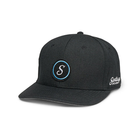 S-Logo 6-Panel Cap Black