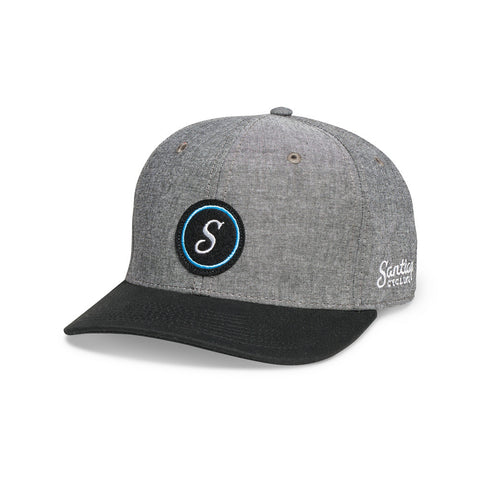 S-Logo 6-Panel Cap Grey