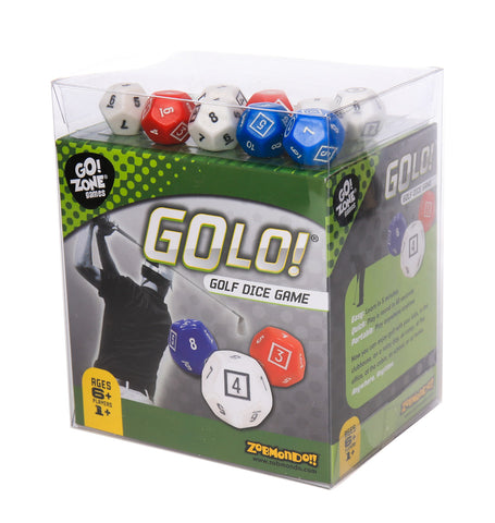 Zobmondo!! GOLO Golf Dice Game | Great Gift for Golfers, Families, and Kids | Portable Fun Game for Home, Travel, Camping, Vacation, Beach | Award Winner