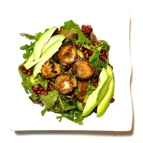 Danika's Bacon and Scallop Salad with Pomegranate Vinaigrette
