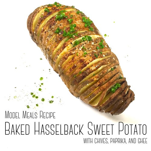 Baked Hasselback Sweet Potato