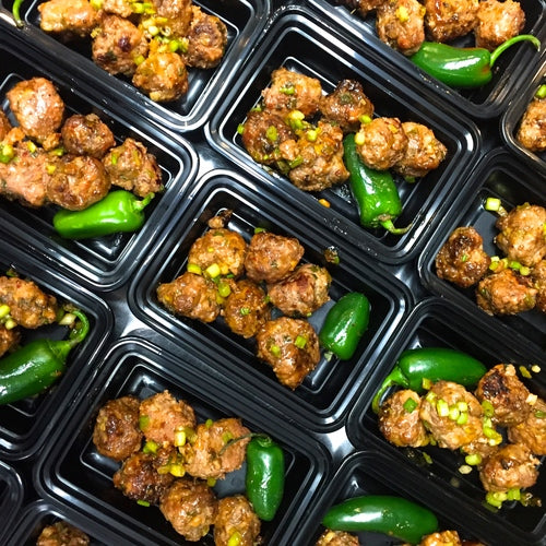 Asian Beef and Pork Meatballs with Fermented Chili Sauce