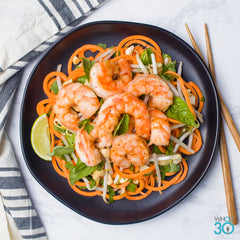 Whole30 Approved Shrimp Pad Thai with Yam Noodles