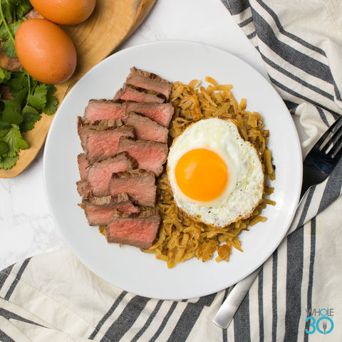 Whole30 Steak + Yolky Egg + Jicama Hash