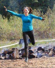 Whole30 Coach Elaina running her Spartan Super