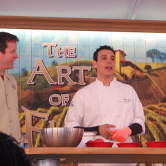 Chef Ralph leading a class at Disney