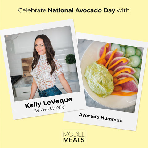 Model Meals | Kelly LeVeque's Avocado Hummus