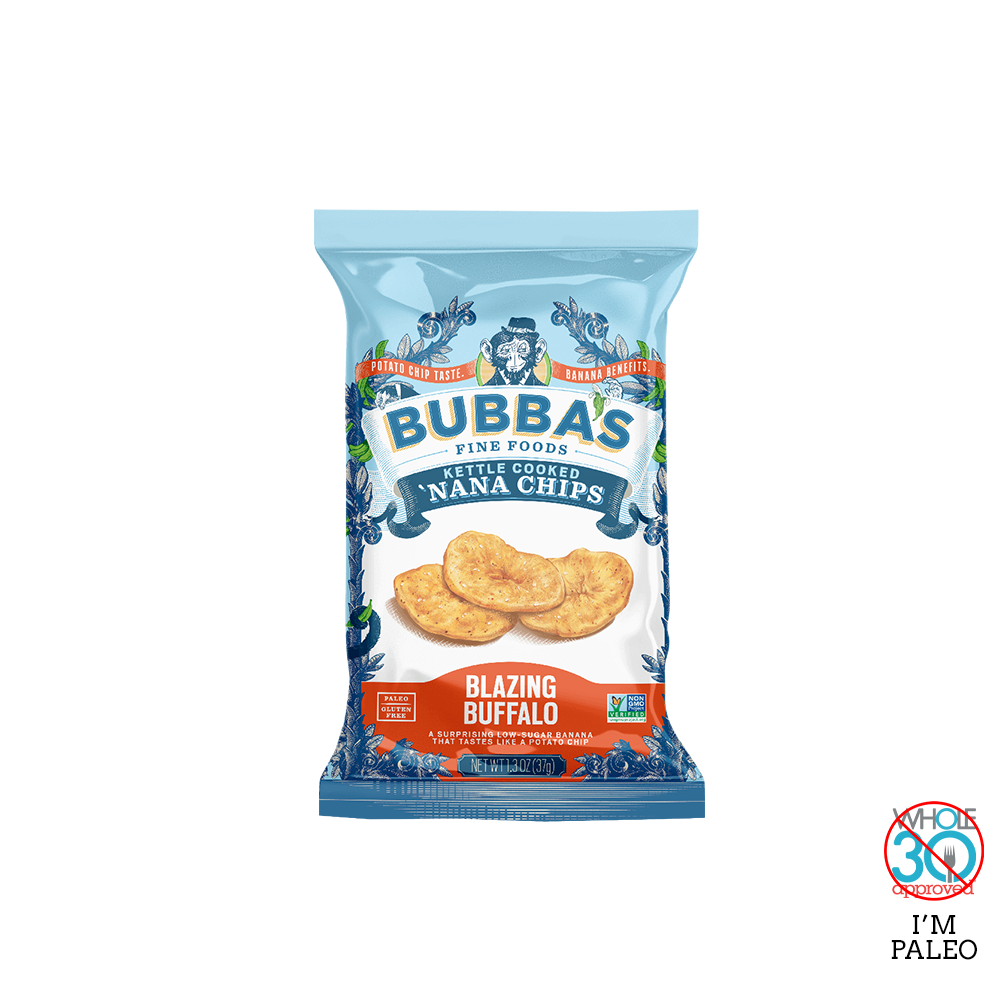 bubba's fine foods: blazing buffalo 'nana chips