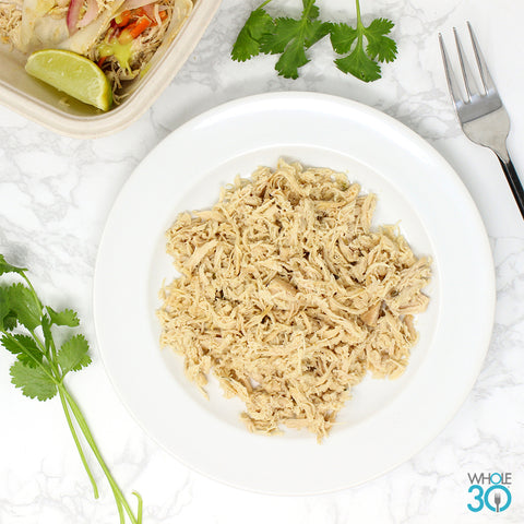4oz protein side: pasture-raised shredded chicken breast