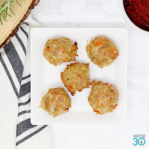 5ea protein side: pasture-raised chicken meatballs