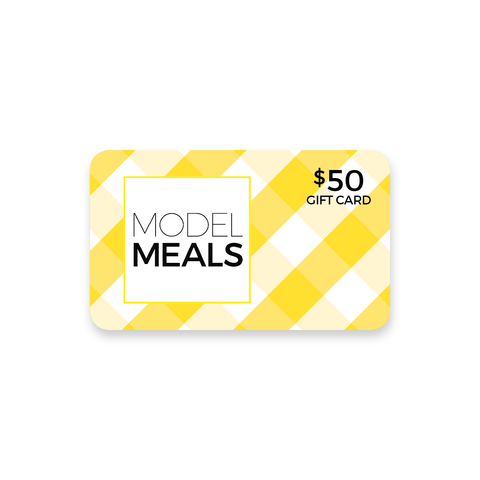 model meals gift card