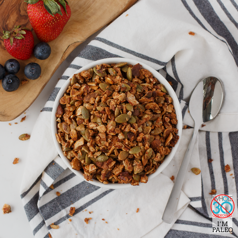 mm grain-free spiced maple granola
