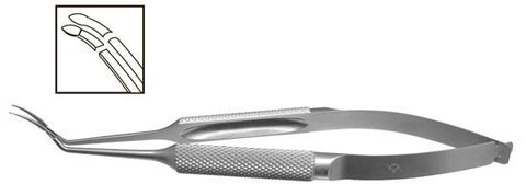 TMF102 Inamura Capsulorhexis Forceps Curved w/Marks, 1.8mm Incision, Stainless Steel - Titan Medical Instruments