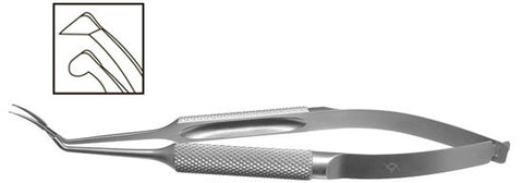 TMF103 Inamura Capsulorhexis Forceps Curved w/Marks, 1.8mm Incision, Stainless Steel - Titan Medical Instruments