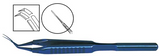 TMF162 Inamura 1.8 Cross Action Capsulorhexis Forceps Curved w/Marks, Titanium - Titan Medical Instruments