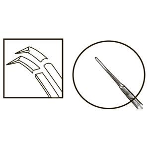 TMF160 Inamura 1.5 Cross Action Capsulorhexis Forceps Curved w/Marks - Titan Medical Instruments