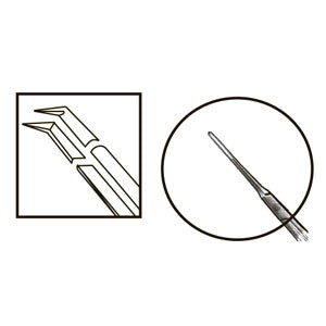 TMF185 Inamura 1.5 Cross Action Capsulorhexis Forceps Straight w/Marks - Titan Medical Instruments