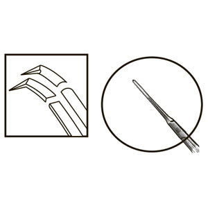 TMF186 Inamura 1.5 Cross Action Capsulorhexis Forceps Curved w/Marks, Titanium - Titan Medical Instruments