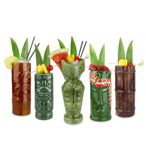 Tiki Mugs - Tropisk party pakke