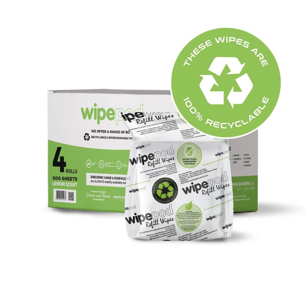 XXL 500 Sheets Per Roll (4 Rolls per Box) - Antibacterial Multi-Purpose Hand & Surface Wet Wipes