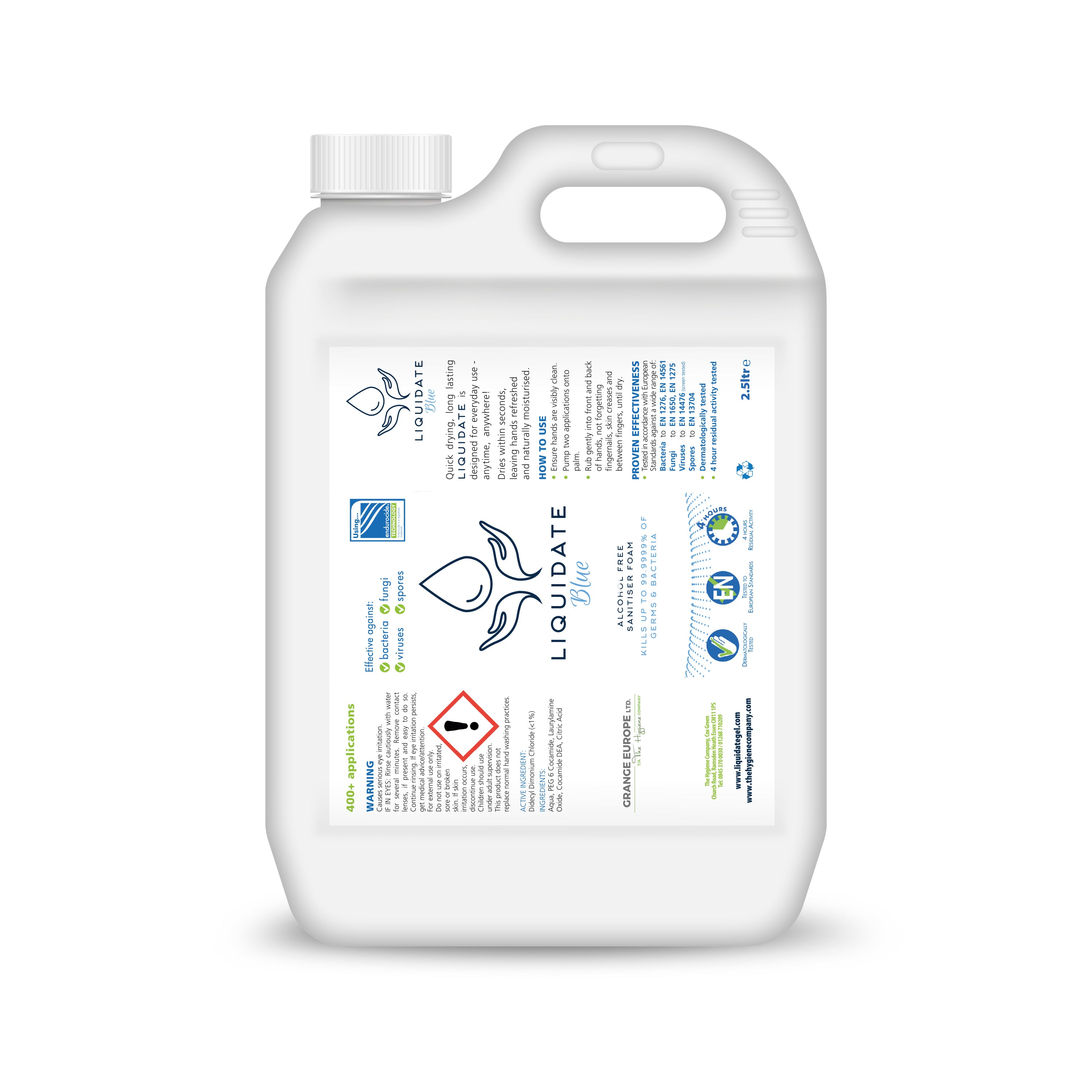 2.5 litres - Liquidate Hand sanitiser Refill Containers (2 per box)