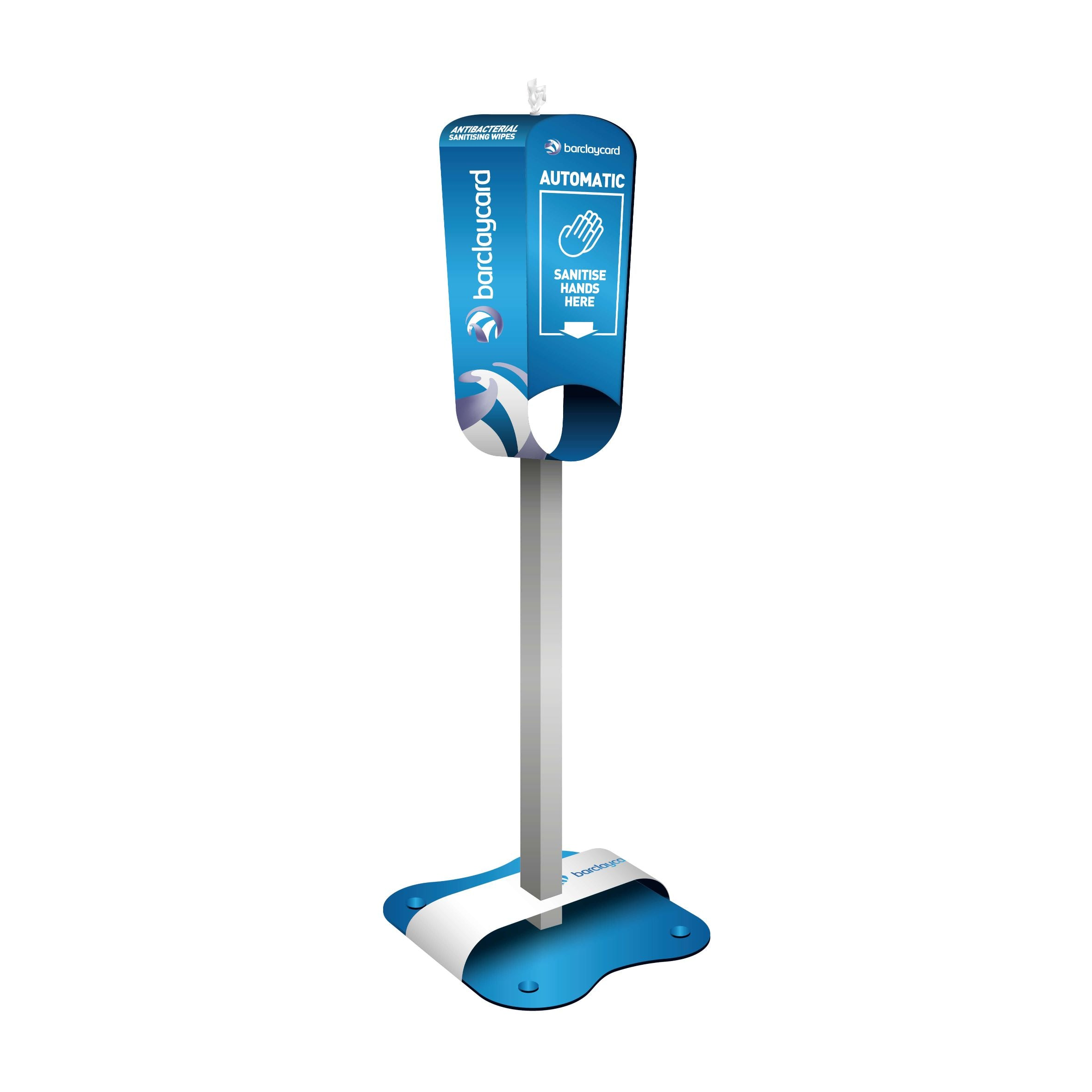 Contactless Hand Sanitiser & Wet Wipe Station