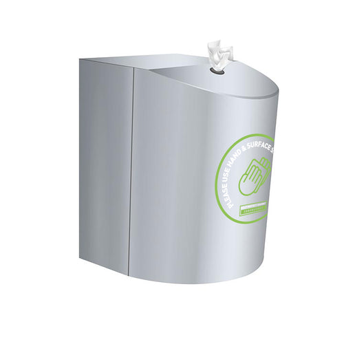 Brushed Stainless Steel Wall mounted Antibacterial Wet Wipes Dispenser