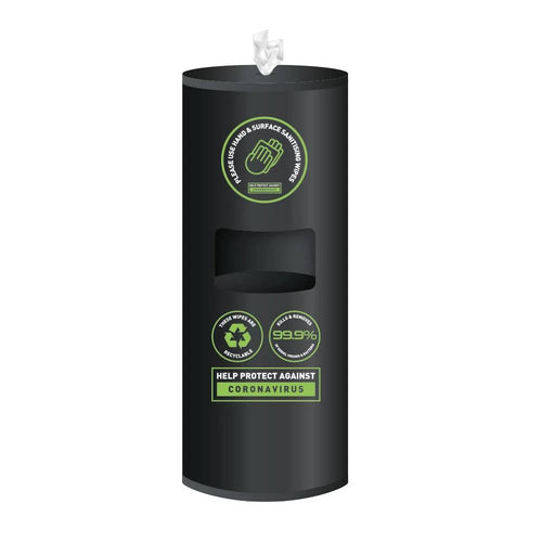 Matt Black Floor Standing Flat Top Dispenser