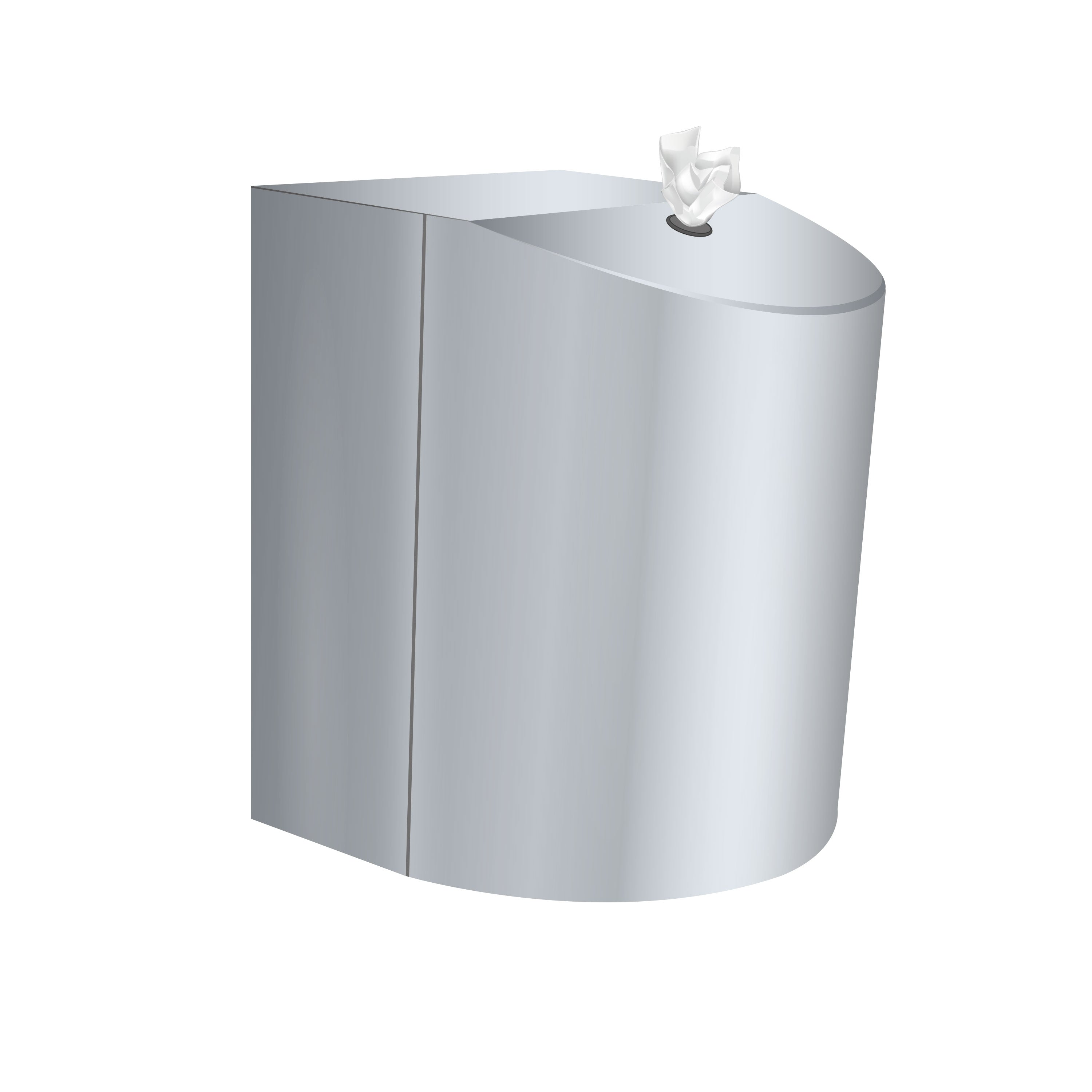 Antibacterial Hand & Surface Wet Wipes Polished Stainless Steel Wall mounted Dispenser