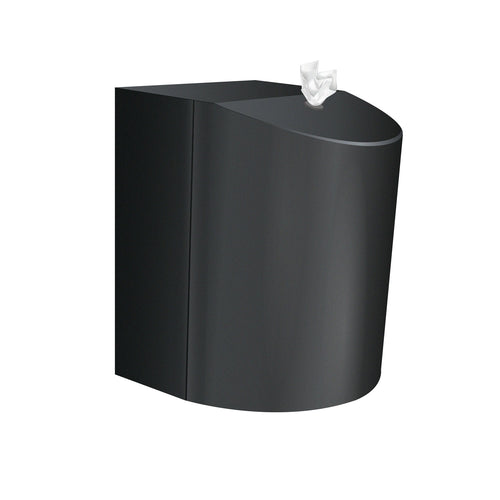 Antibacterial Hand & Surface Wet Wipes Matt Black Paint finished mounted Dispenser