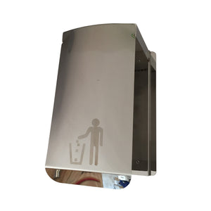 Polished Stainless Steel Floor Standing Wet Wipes Dispenser Including built in bin & gel dispenser