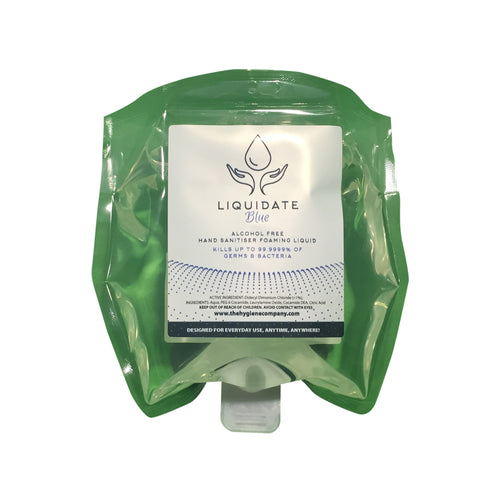 Liquidate Alcohol FREE Hand foamer: Refill Pouch 800ml x 12 units