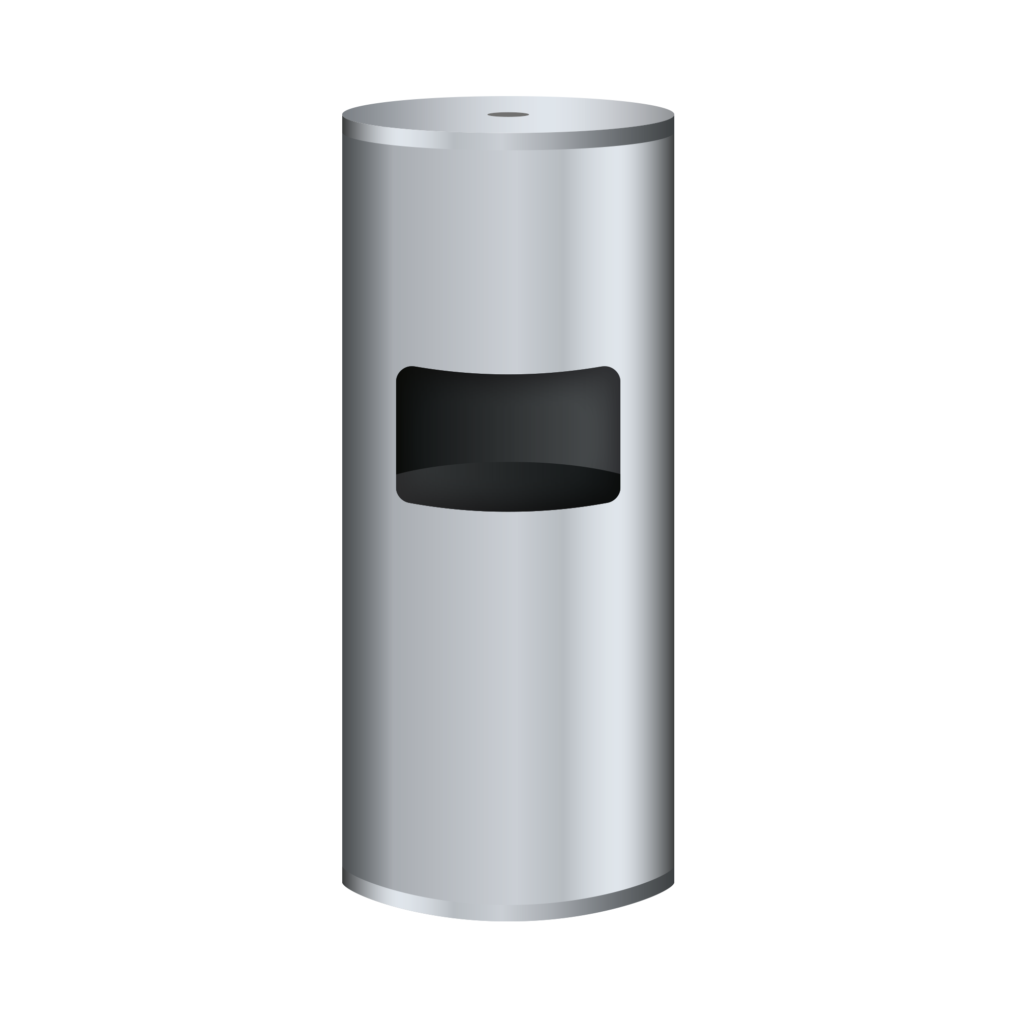 Brushed Stainless Steel Floor Standing Flat Top Dispenser