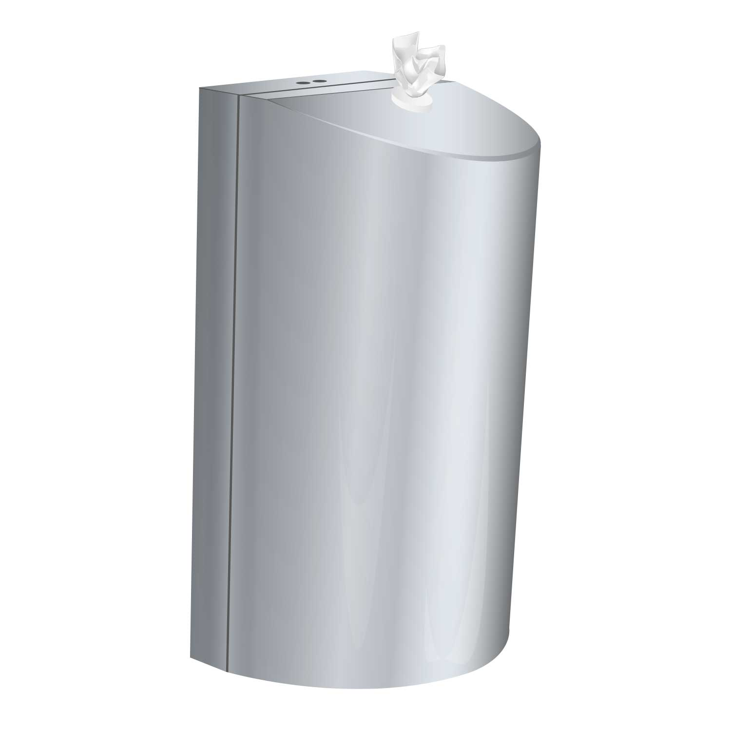 Brushed Stainless Steel wall mounted dispenser / small - Paint finished in matt BLACK