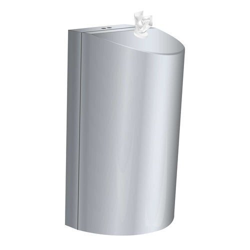 Polished Stainless Steel wall mounted dispenser / small