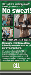 GLL Clean Gym Promotional Pull Up Banner